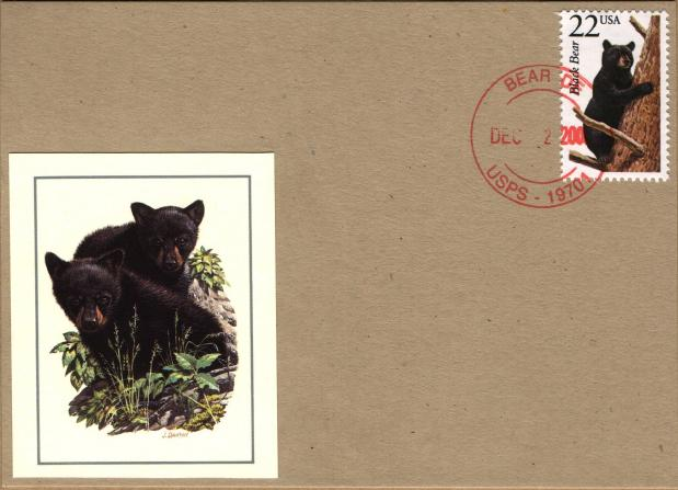 Bear, DE cancel with applied cachet
