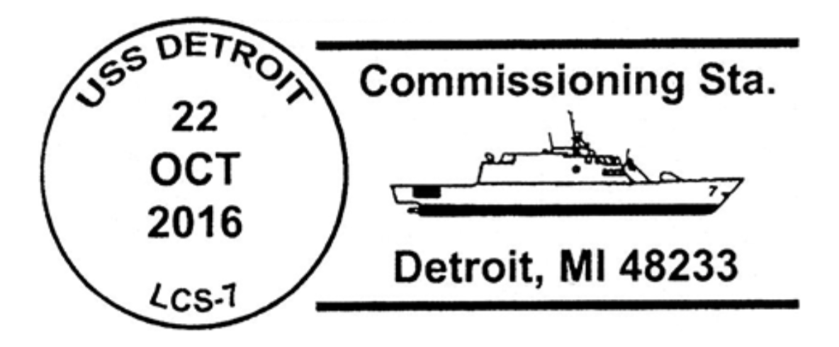 USS Detroit LCS-1 Commissioning, Detroit, Michigan — 2016-10